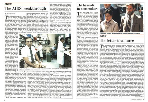 Article Preview: The letter to a nurse, May 1984 | Maclean's