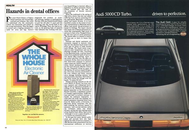 Article Preview: Hazards in dental offices, May 1984 | Maclean's