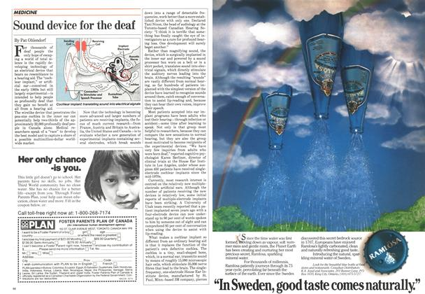 Article Preview: Sound device for the deaf, May 1984 | Maclean's