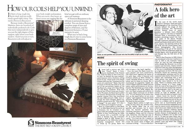 Article Preview: The spirit of swing, May 1984 | Maclean's