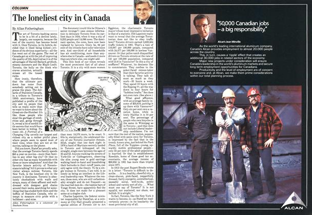 Article Preview: The loneliest city in Canada, May 1984 | Maclean's