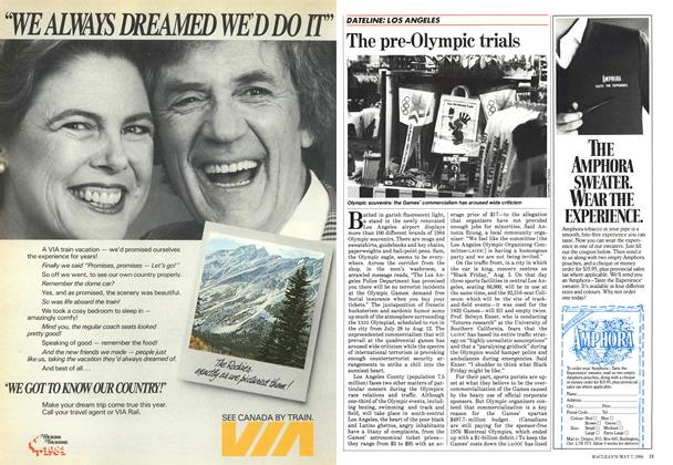 Article Preview: The pre-Olympic trials, May 1984 | Maclean's