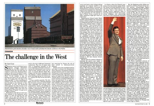 Article Preview: The challenge in the West, May 1984 | Maclean's