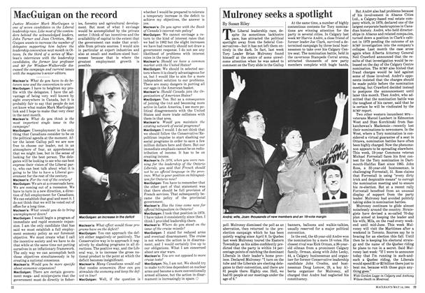 Article Preview: Mulroney seeks a spotlight, May 1984 | Maclean's