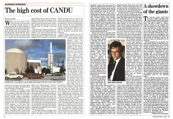 Article Preview: The high cost of CANDU, May 1984 | Maclean's