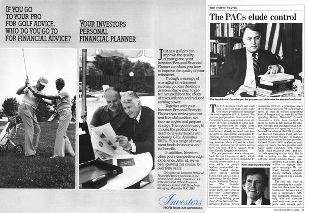 Article Preview: The PACs elude control, May 1984   Maclean's