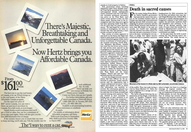 Article Preview: Death in sacred causes, May 1984 | Maclean's