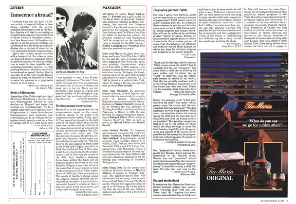 Article Preview: Innocence abroad?, May 1984 | Maclean's