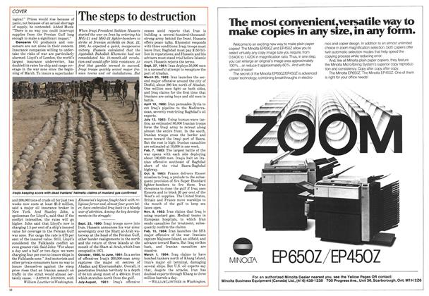 Article Preview: The steps to destruction, May 1984 | Maclean's