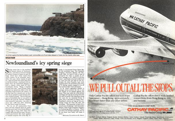 Article Preview: Newfoundland's icy spring siege, May 1984 | Maclean's