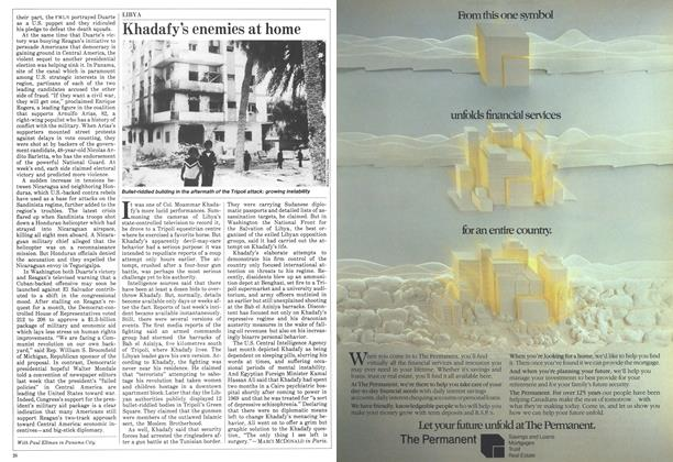 Article Preview: Khadafy's enemies at home, May 1984 | Maclean's