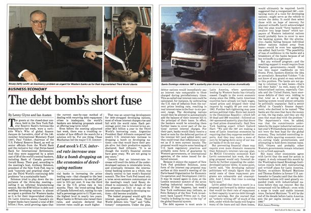 Article Preview: The debt bomb's short fuse, May 1984 | Maclean's