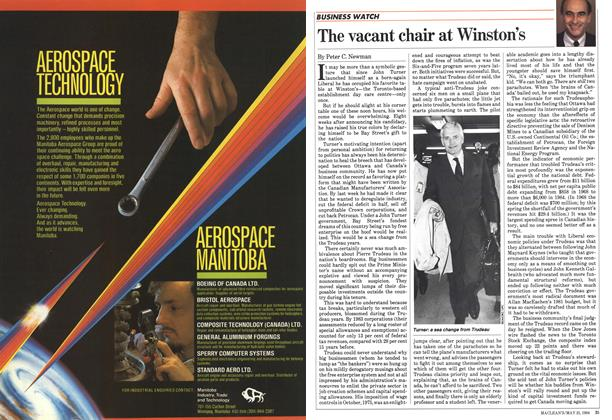 Article Preview: The vacant chair at Winston's, May 1984 | Maclean's