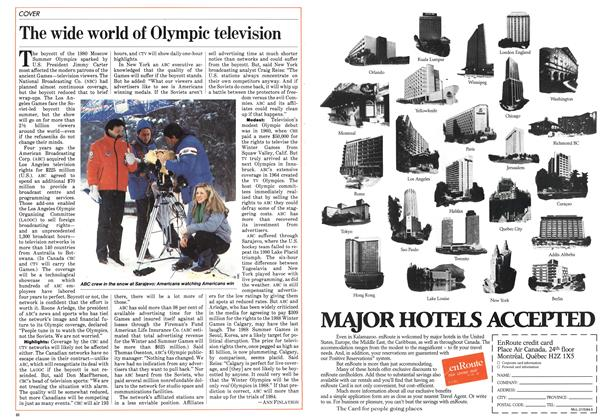 Article Preview: The wide world of Olympic television, May 1984 | Maclean's