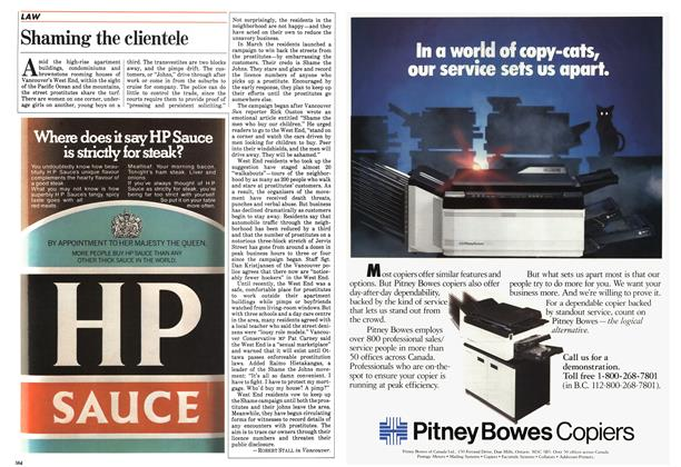 Article Preview: Shaming the clientele, May 1984 | Maclean's