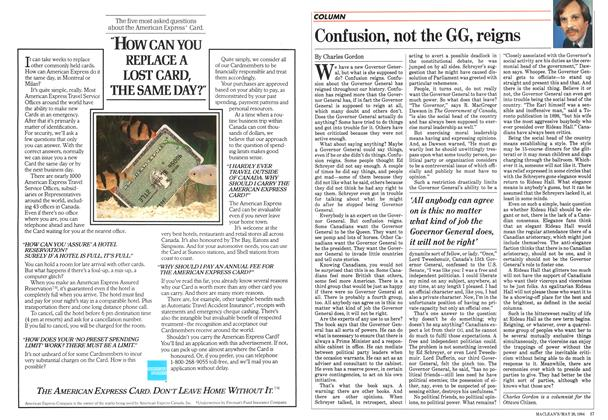 Article Preview: Confusion, not the GG, reigns, May 1984 | Maclean's