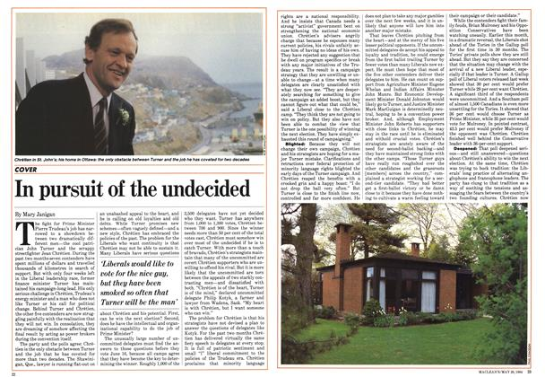 Article Preview: In pursuit of the undecided, May 1984   Maclean's