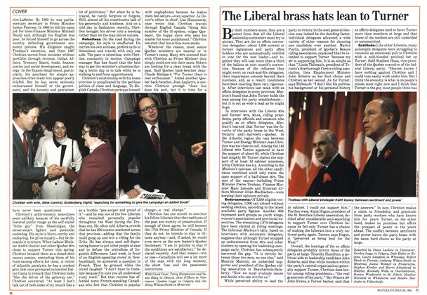 Article Preview: The Liberal brass hats lean to Turner, May 1984 | Maclean's