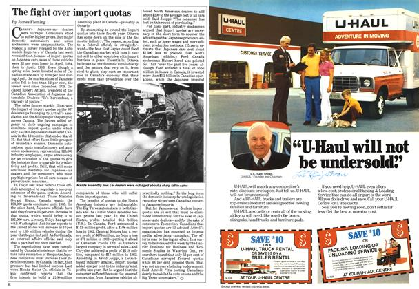Article Preview: The fight over import quotas, May 1984 | Maclean's