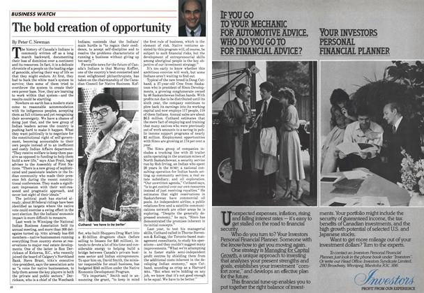 Article Preview: The bold creation of opportunity, May 1984 | Maclean's