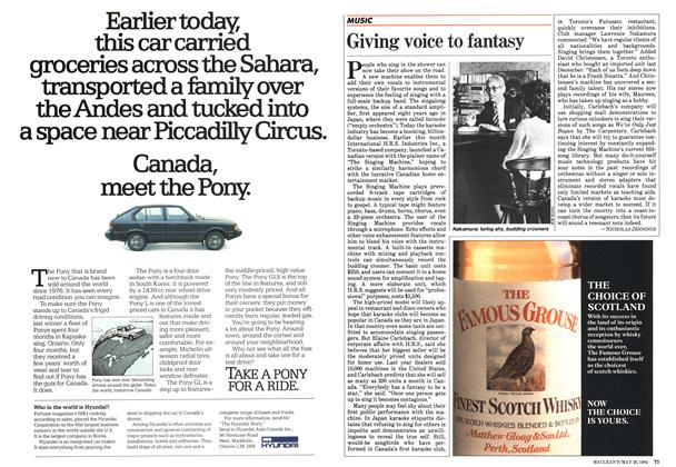 Article Preview: Giving voice to fantasy, May 1984 | Maclean's