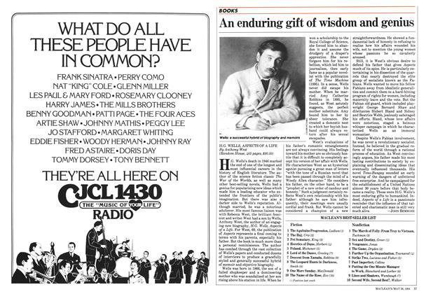 Article Preview: An enduring gift of wisdom and genius, May 1984 | Maclean's