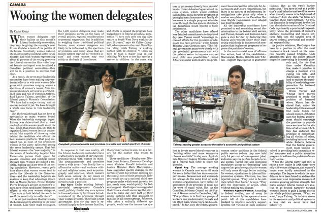Article Preview: Wooing the women delegates, June 1984 | Maclean's