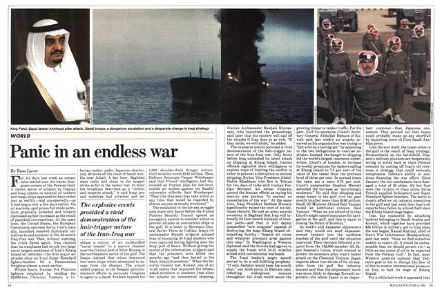Article Preview: Panic in an endless war, June 1984 | Maclean's