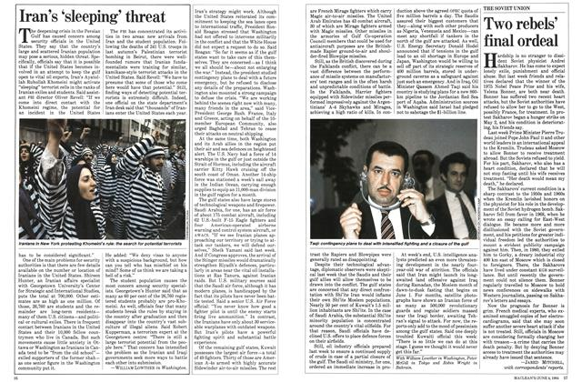 Article Preview: Iran's 'sleeping' threat, June 1984 | Maclean's