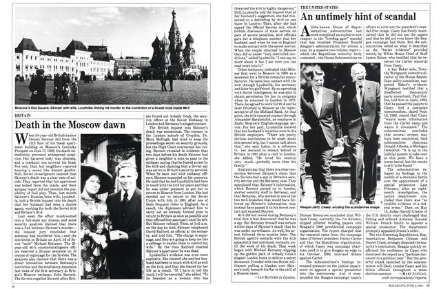 Article Preview: An untimely hint of scandal, June 1984 | Maclean's