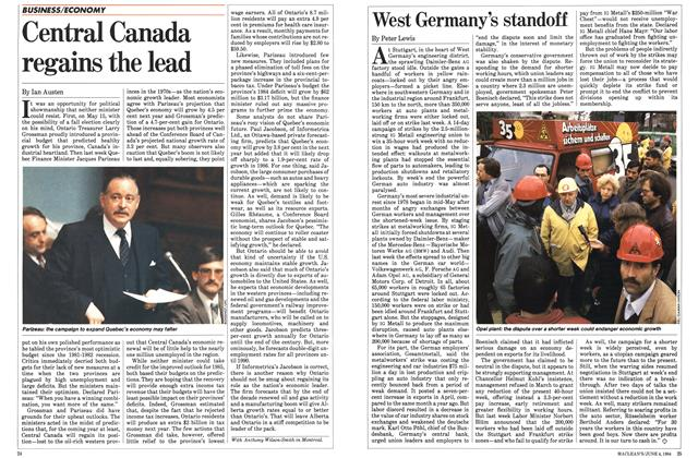 Article Preview: West Germany's standoff, June 1984 | Maclean's