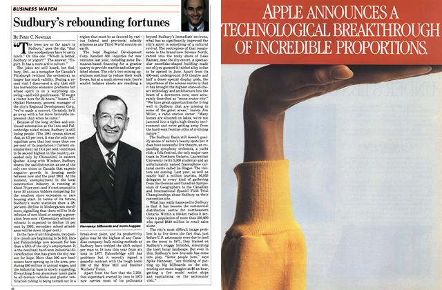 Article Preview: Sudbury's rebounding fortunes, June 1984 | Maclean's