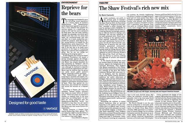 Article Preview: The Shaw Festival's rich new mix, June 1984 | Maclean's
