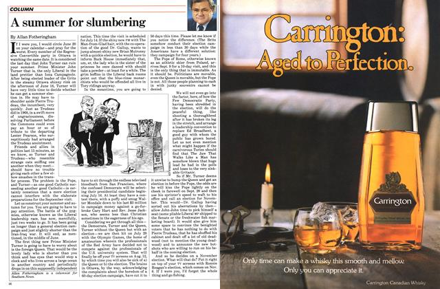 Article Preview: A summer for slumbering, June 1984 | Maclean's