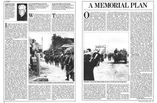 Article Preview: A MEMORIAL PLAN, June 1984 | Maclean's
