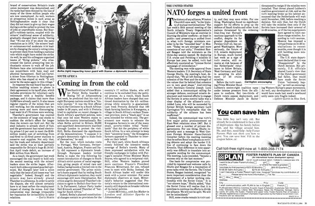Article Preview: NATO forges a united front, June 1984 | Maclean's