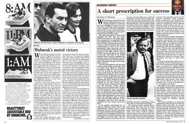 Article Preview: A short prescription for success, June 1984 | Maclean's