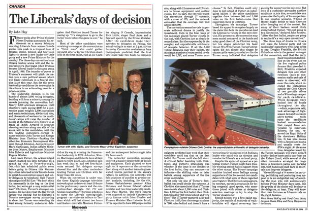 Article Preview: The Liberals' days of decision, June 1984 | Maclean's