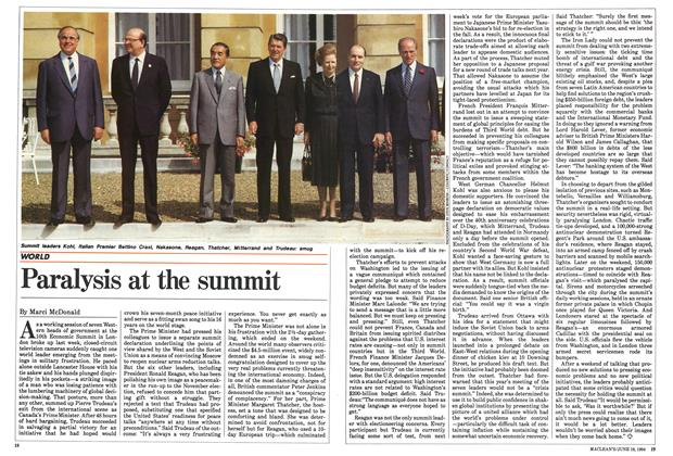 Article Preview: Paralysis at the summit, June 1984 | Maclean's