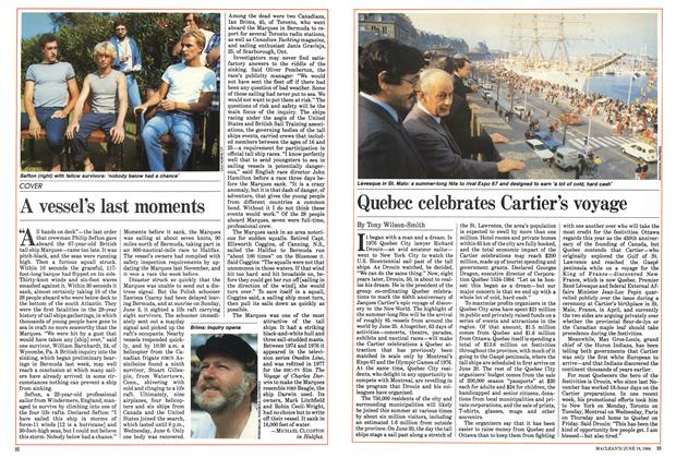 Article Preview: Quebec celebrates Cartier's voyage, June 1984 | Maclean's