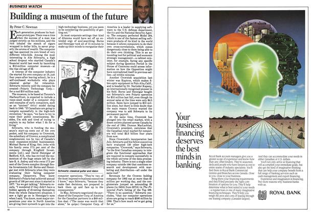 Article Preview: Building a museum of the future, June 1984   Maclean's