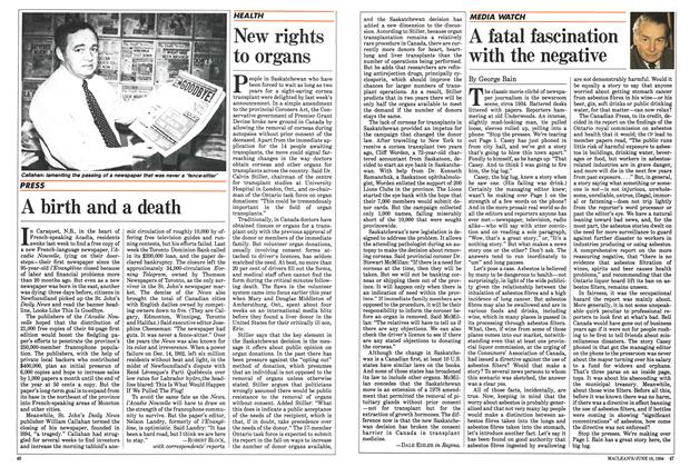 Article Preview: A fatal fascination with the negative, June 1984 | Maclean's