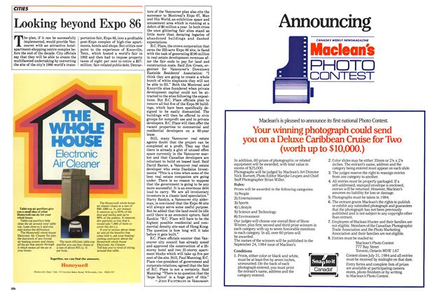 Article Preview: Looking beyond Expo 86, June 1984 | Maclean's