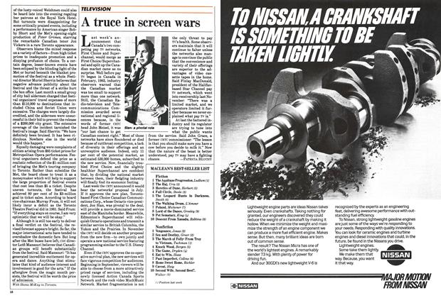 Article Preview: A truce in screen wars, June 1984 | Maclean's