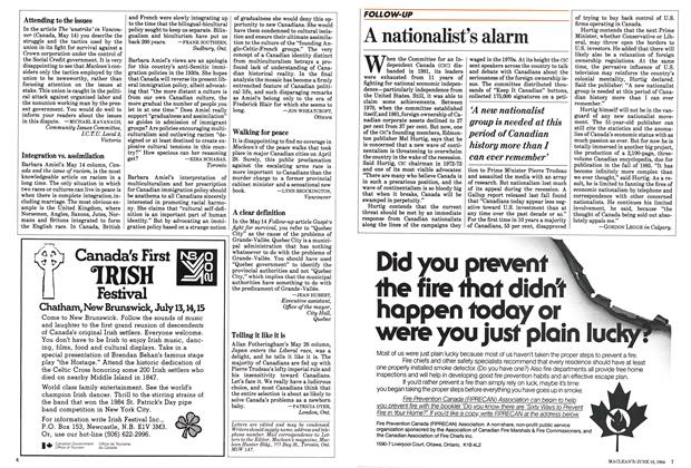 Article Preview: A nationalist's alarm, June 1984 | Maclean's