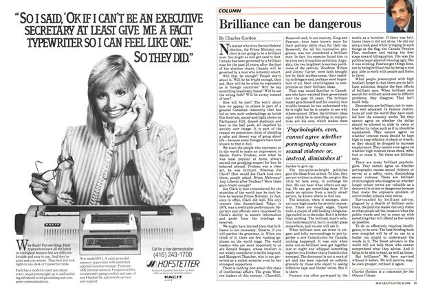 Article Preview: Brilliance can be dangerous, June 1984 | Maclean's