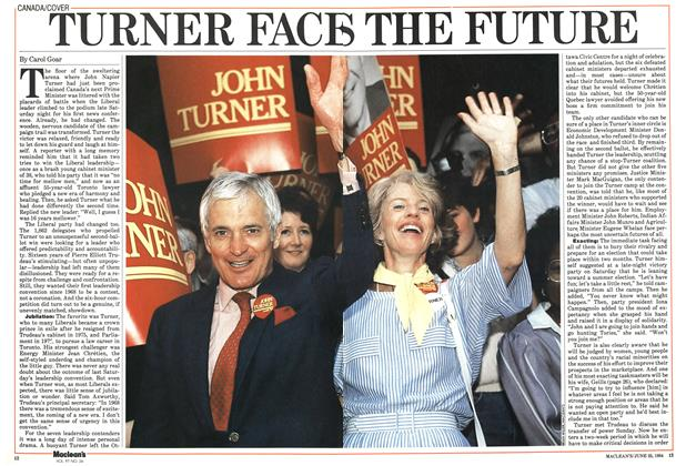 Article Preview: TURNER FACES THE FUTURE, June 1984 | Maclean's