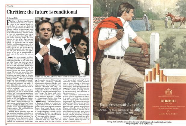 Article Preview: Chrétien: the future is conditional, June 1984 | Maclean's