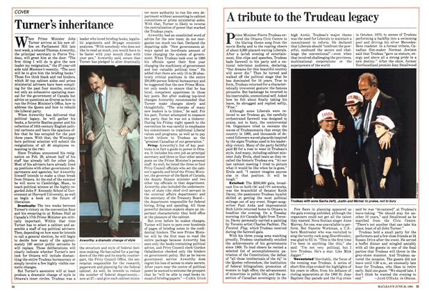 Article Preview: A tribute to the Trudeau legacy, June 1984 | Maclean's