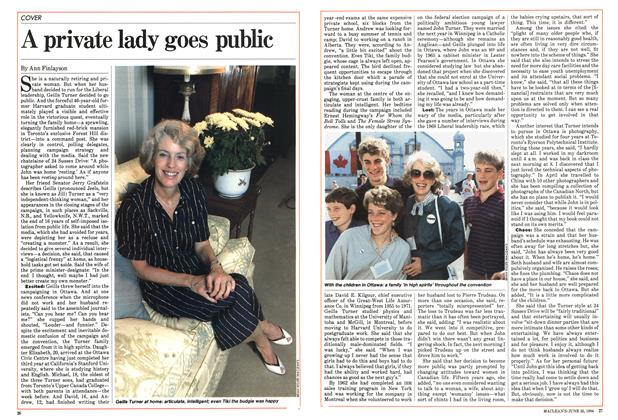 Article Preview: A private lady goes public, June 1984 | Maclean's